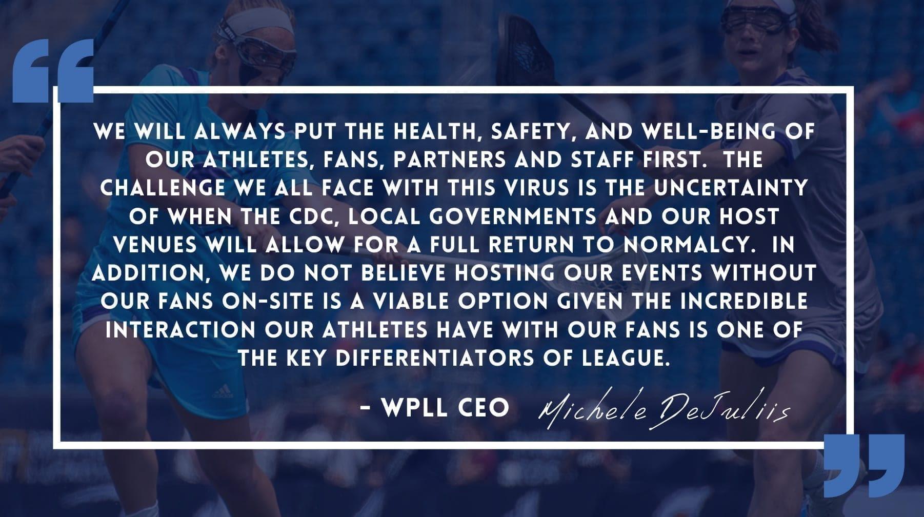 WPLL Cancels 2020 Season