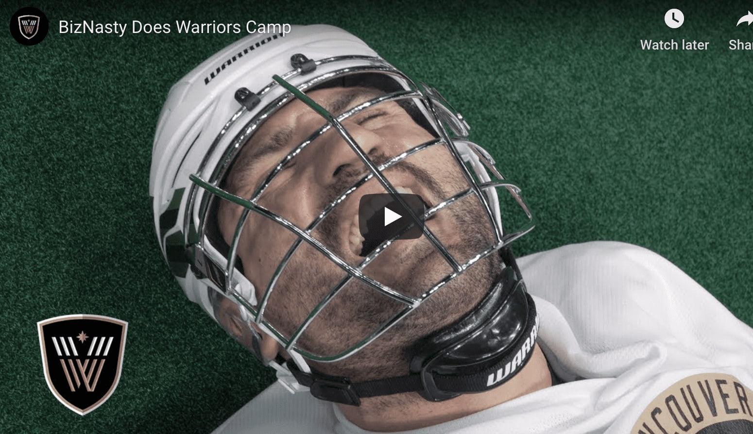 biz nasty does camp pro lacrosse box lacrosse nll national lacrosse league vancouver warriors