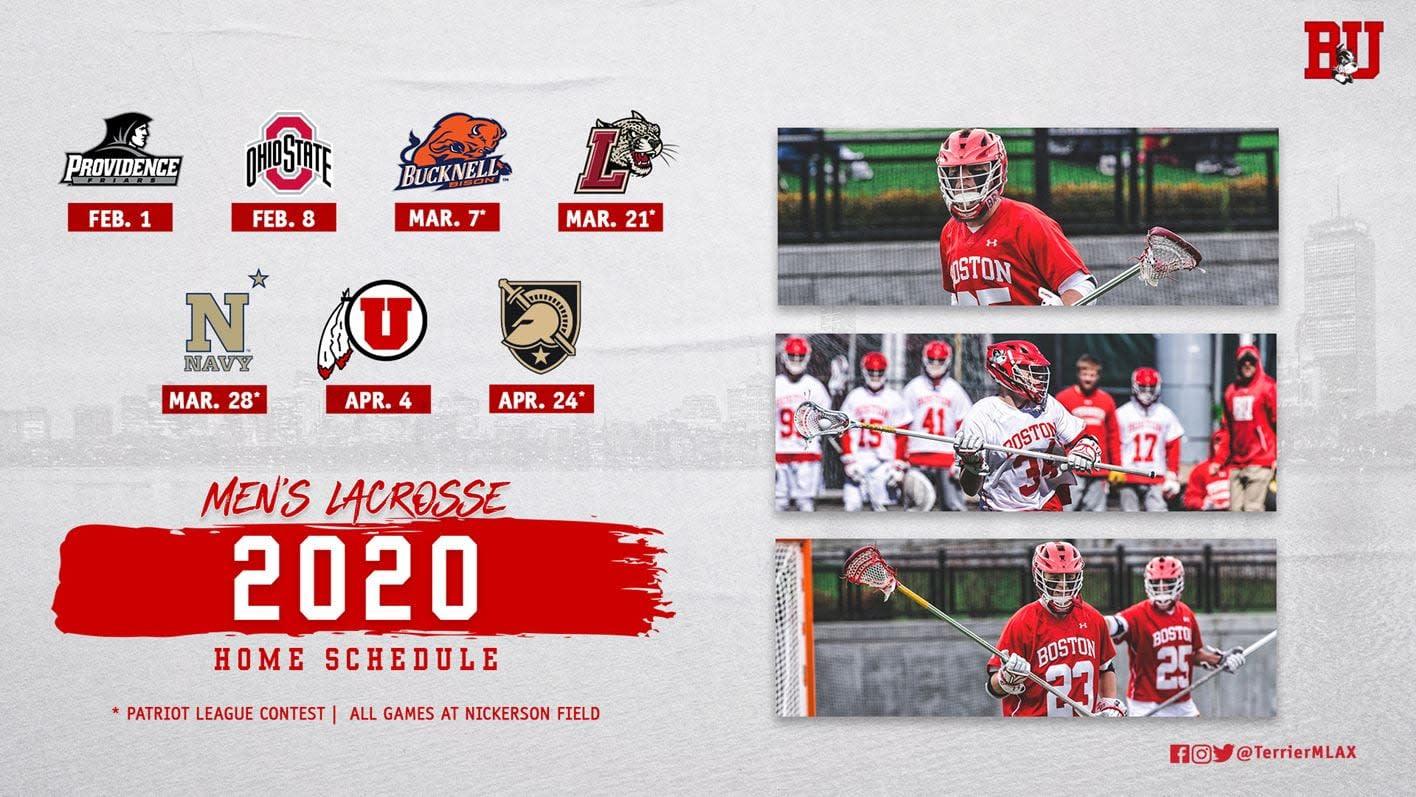 boston university 2020 men's lacrosse schedule
