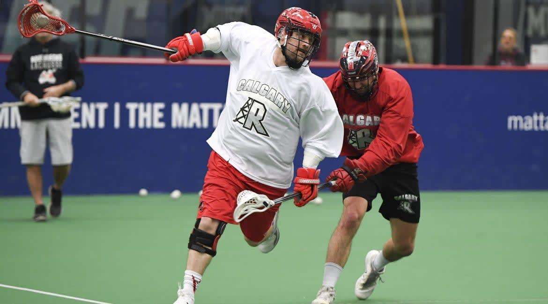 dane dobbie calgary roughnecks training camp nll national lacrosse league