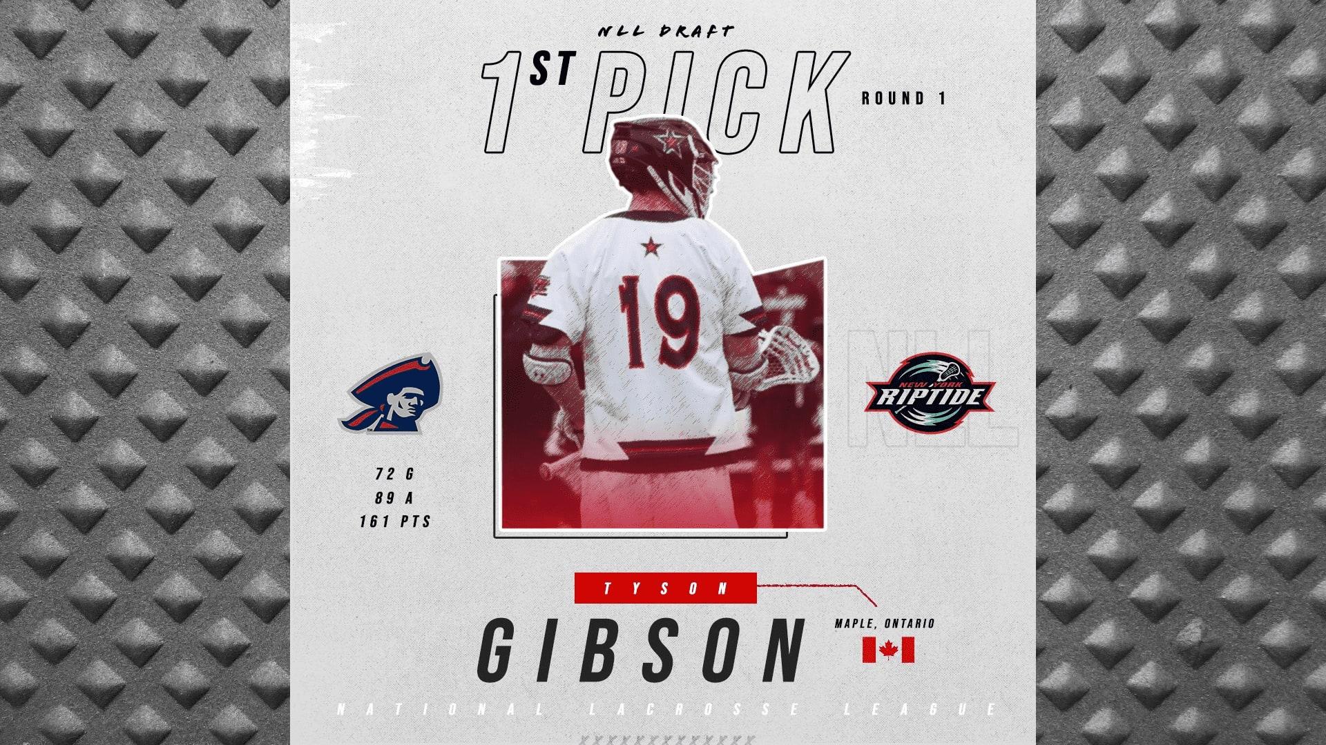 2019 nll entry draft tyson gibosn