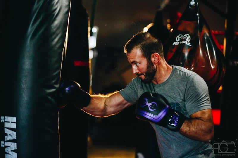 Adam Baxter boxing