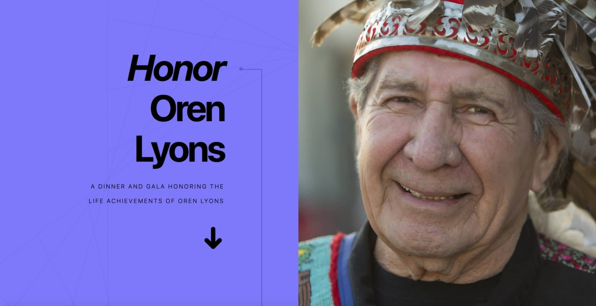 Oren Lyons honored for life achievements