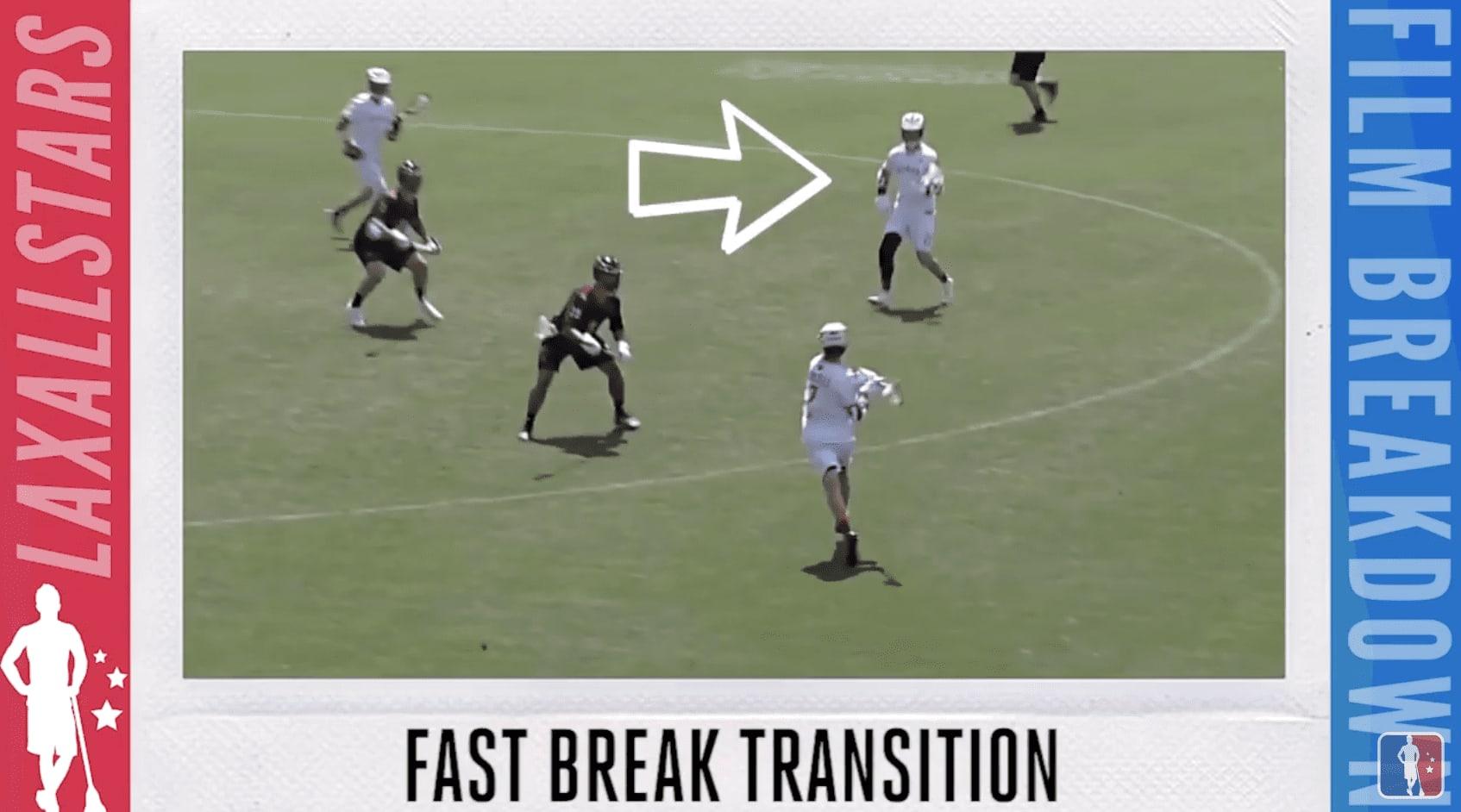 fast break offense - graphic design