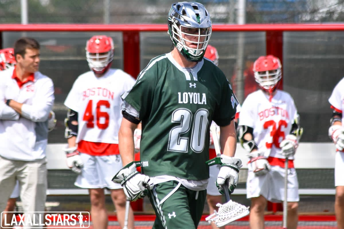 ncaa conference tournament Boston Terriers defeat No. 2 Loyola Greyhounds patriot league lacrosse