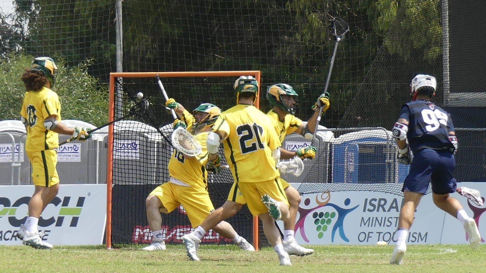 USA Australia 2018 World Lacrosse Championships Roger Davis top photos blue group