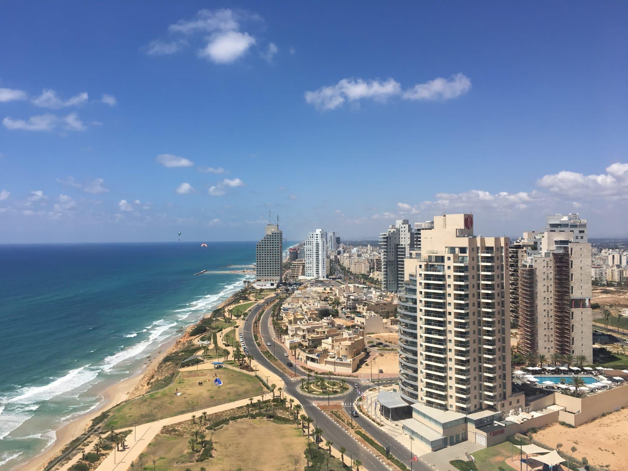 View from The Island Hotel in Netanya, Israel