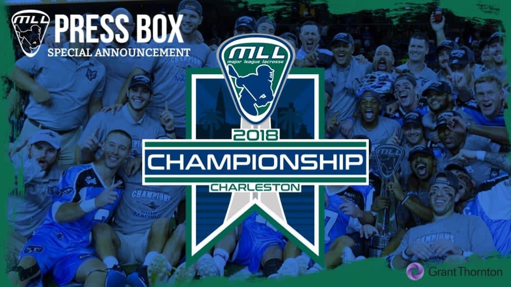 Charleston to Host 2018 MLL Championship Game