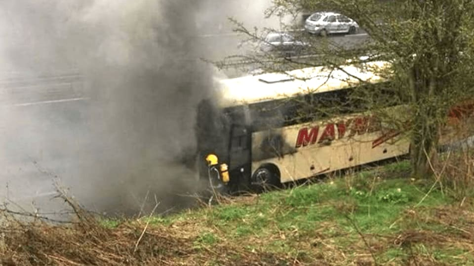 english knights bus fire
