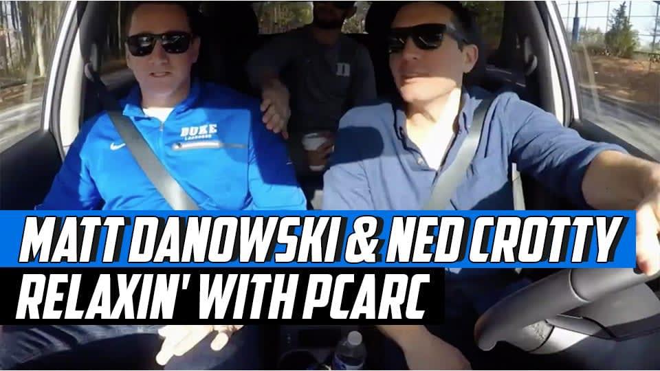 Matt Danowski and Ned Crotty reLAXin with Paul Carcaterra