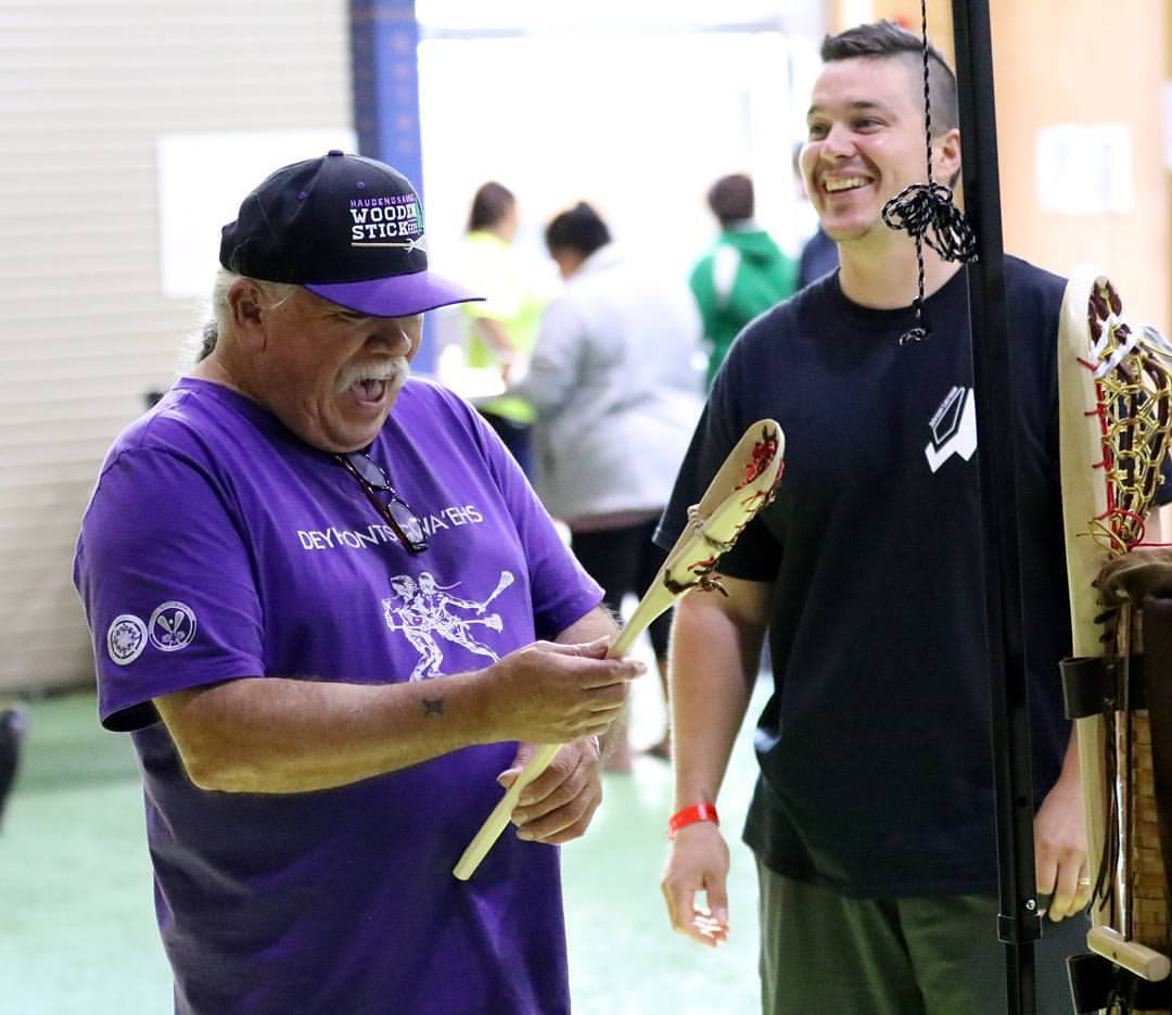 Alf Jacques wooden lacrosse stick LASNAI Jeff Melnik