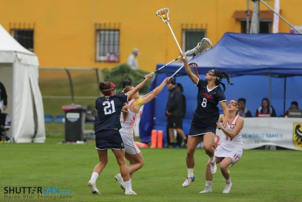 The World Games Lacrosse Wroclaw, Poland women's lacrosse USA Poland