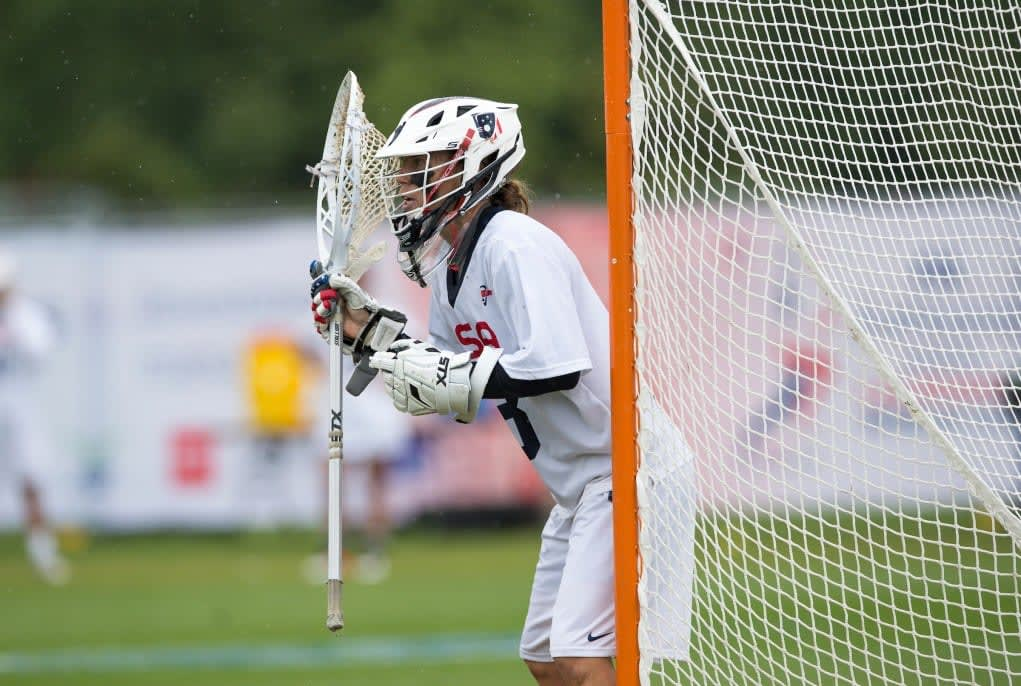 Team USA's Devon Wills during the World Cup Final at the 2017 FIL Rathbones Women's Lacrosse World Cup, at Surrey Sports Park, Guildford, Surrey, UK, 22nd July 2017. women