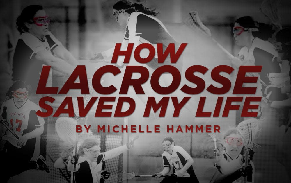 Schizophrenic saved by lacrosse
