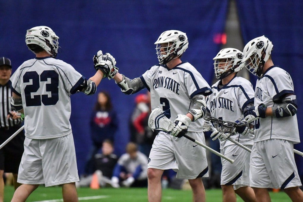 NCAA D1 Penn State Men's Lacrosse O'Keefe, Loftus Lead In Your Face Awards to End February