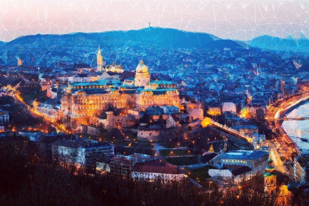Budapest sunset artwork
