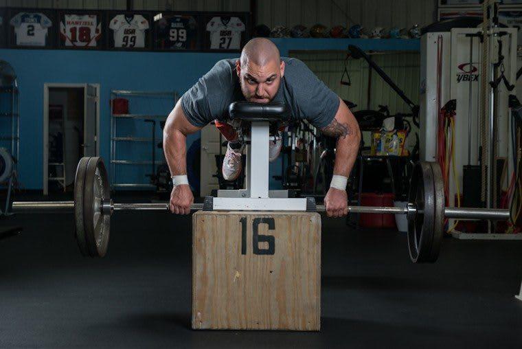 Scott Rodgers lifting - Photo courtesy Lacrosse Magazine