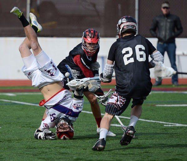 hard lacrosse hit