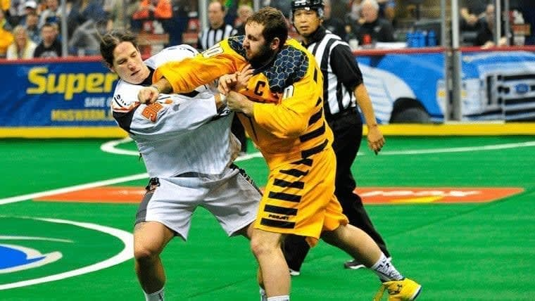 Bill O'Brien Andrew Suitor Lacrosse-Fight NLL Credit Scott Pierson