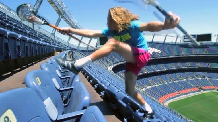 Training for lacrosse with Connor Martin