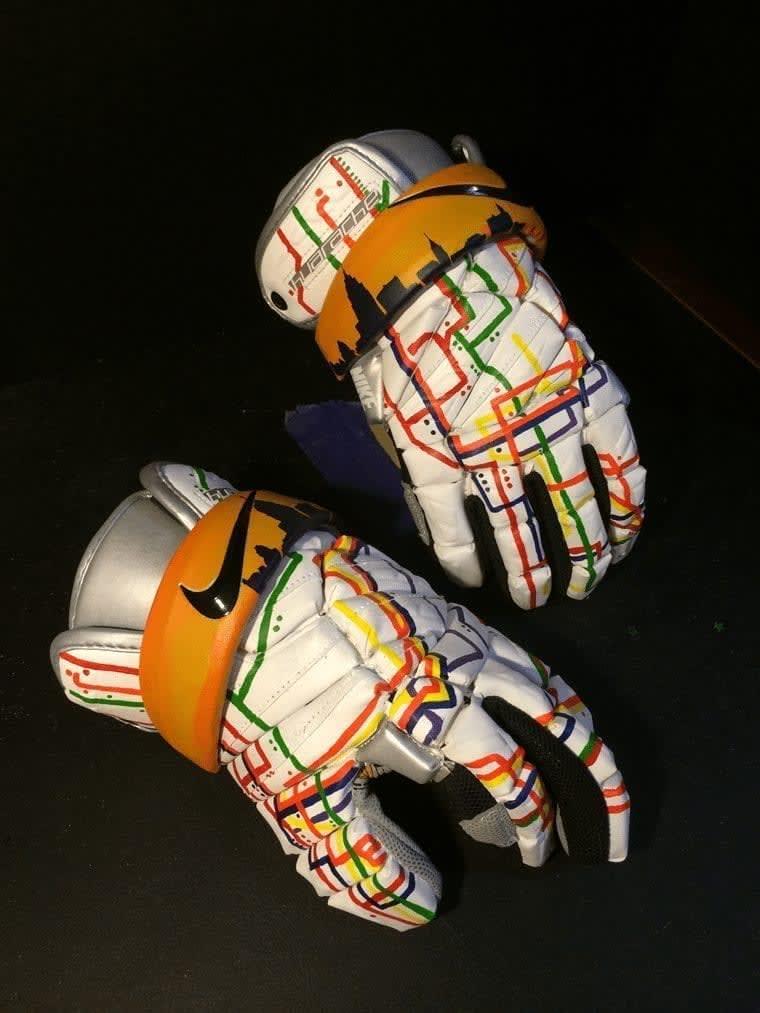 Kacy Small NYC Subway CityLax gala gloves