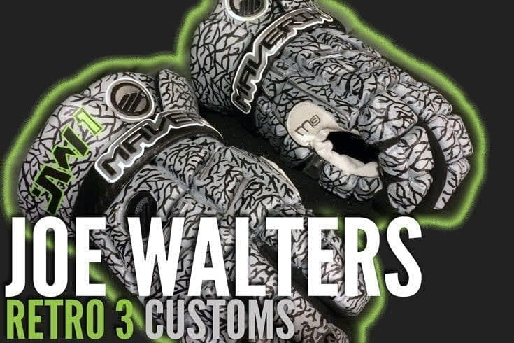 Joe Walters Retor 3 Inspired JW1 Maverik M3 Lacrosse gloves from CruzWorldCustoms