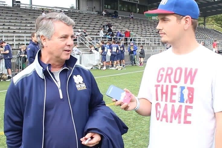 Mark Donahue of Lacrosse All Stars catches up with Notre Dame men's lacrosse head coach, Kevin Corrigan, to talk about the Irish fall ball season and the team building travels of the ND Lax program. Notre Dame scrimmaged with #USAMLAX at the 2014 Seatown Classic in Seattle, Washington, and LAS Insiders get to see it first!