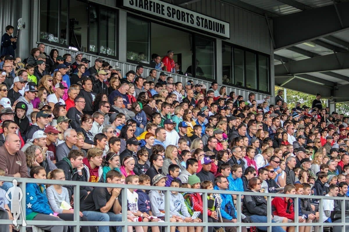 Lacrosse fans at the 2014 Seatown Classic