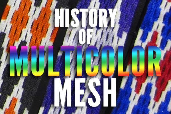 History of multicolor lacrosse mesh