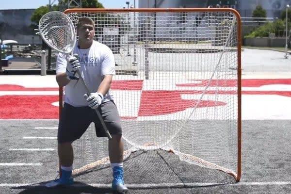 Joe Bannon Trilogy Lacrosse goaltending coach teaches Goalie Footwork