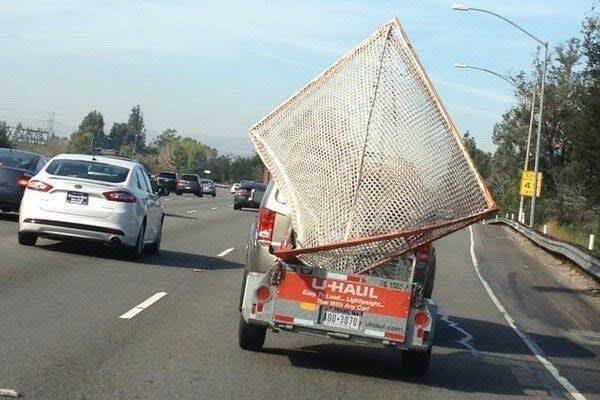 U-Haul Lacrosse Goals on the Highway in Los Angeles