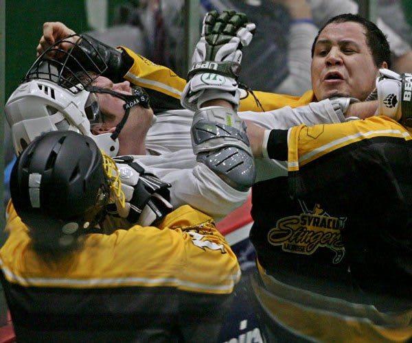 Fight Syracuse Stingers vs NYC Lax All Stars Box Photo credit: Larry Palumbo