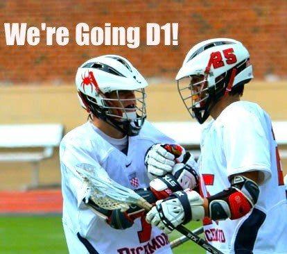 Goal_Celebration for richmond lacrosse going d1