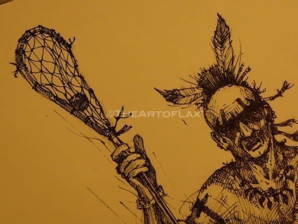 The Art of lax the originators artwork lacrosse
