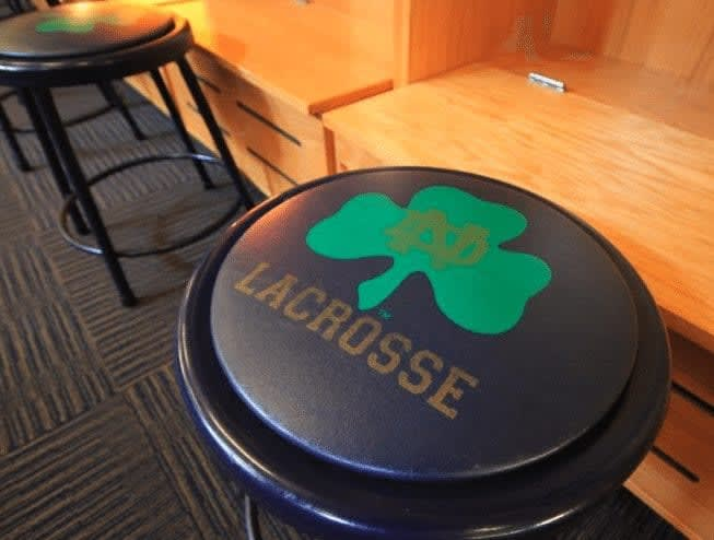Notre Dame Lacrosse stool locker