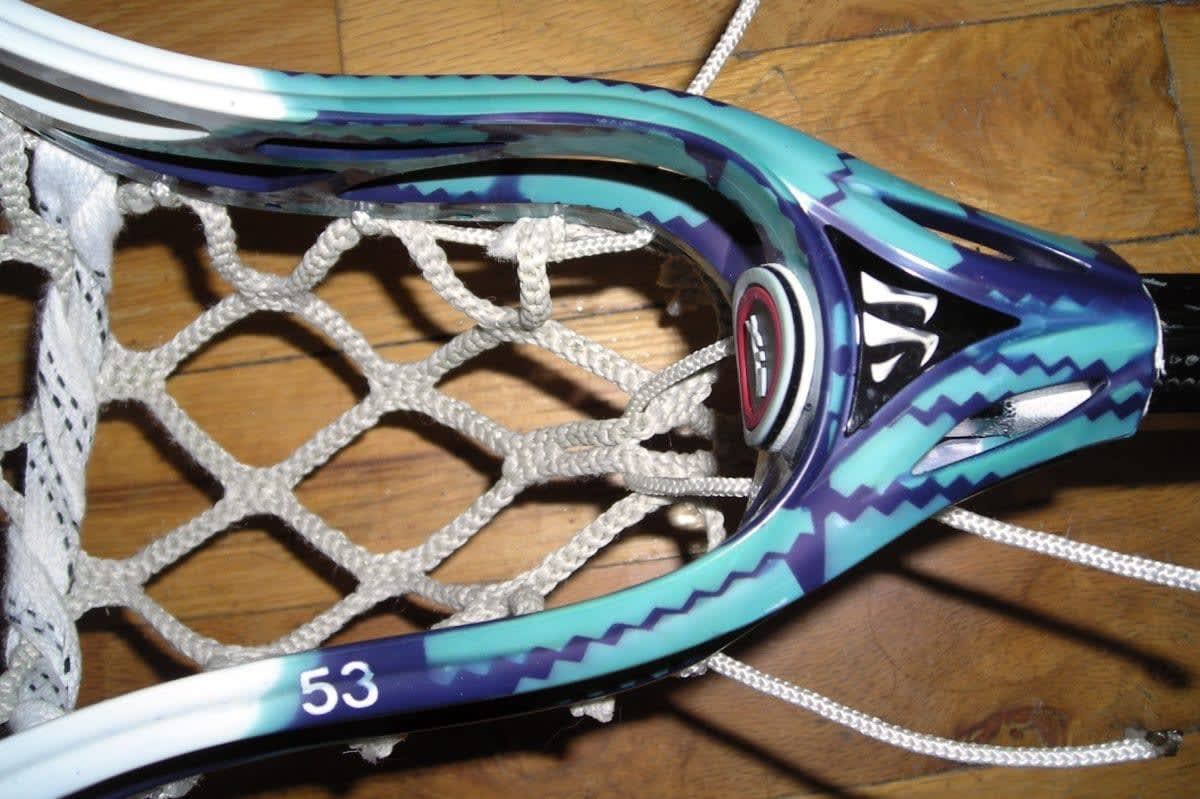 Warrior Evolution 3 dye job goal netting string job lax lacrosse