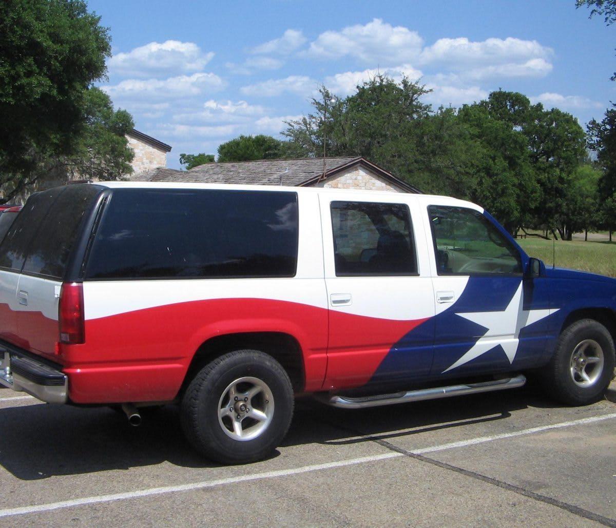 Texas SUV flag