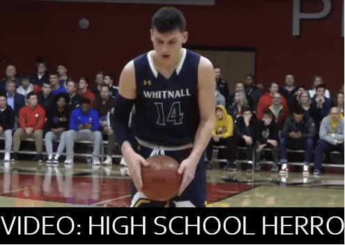 Tyler Herro is playing well for the Miami Heat now, but in 2018, he was playing for the Woodland Conference Championship in high school.