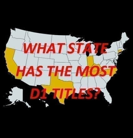 What state has the most NCAA Division I basketball championships when combining successes in both men's and women's hoops?