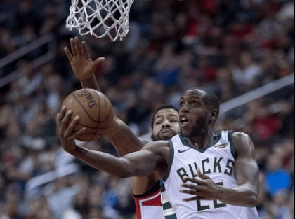 On this day eight years ago, Khris Middleton made his NBA debut for the Detroit Pistons months after the team drafted him in the second round.