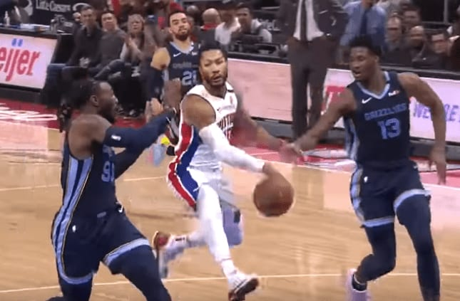 The NBA put out a video of the best Derrick Rose plays from each game he played for the Detroit Pistons during the 2019-20 season.