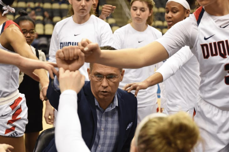 Duquesne women's basketball has players from all over the world, and utilizing an international flavor is major part of what head coach Dan Burt does.
