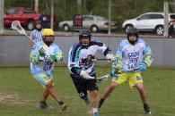 LaxAllStars House Team Rochester River Monsters LASNAI 2017 LaxAllStars North American Invitational box lacrosse Onondaga Nation photo: Jeff Melnik ncaa box lacrosse