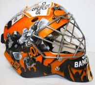 Anthony Cosmo goalie mask NLL Photo: DARRIGOart.com twitter