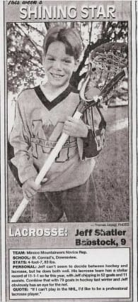 Young Jeff Shattler child lacrosse