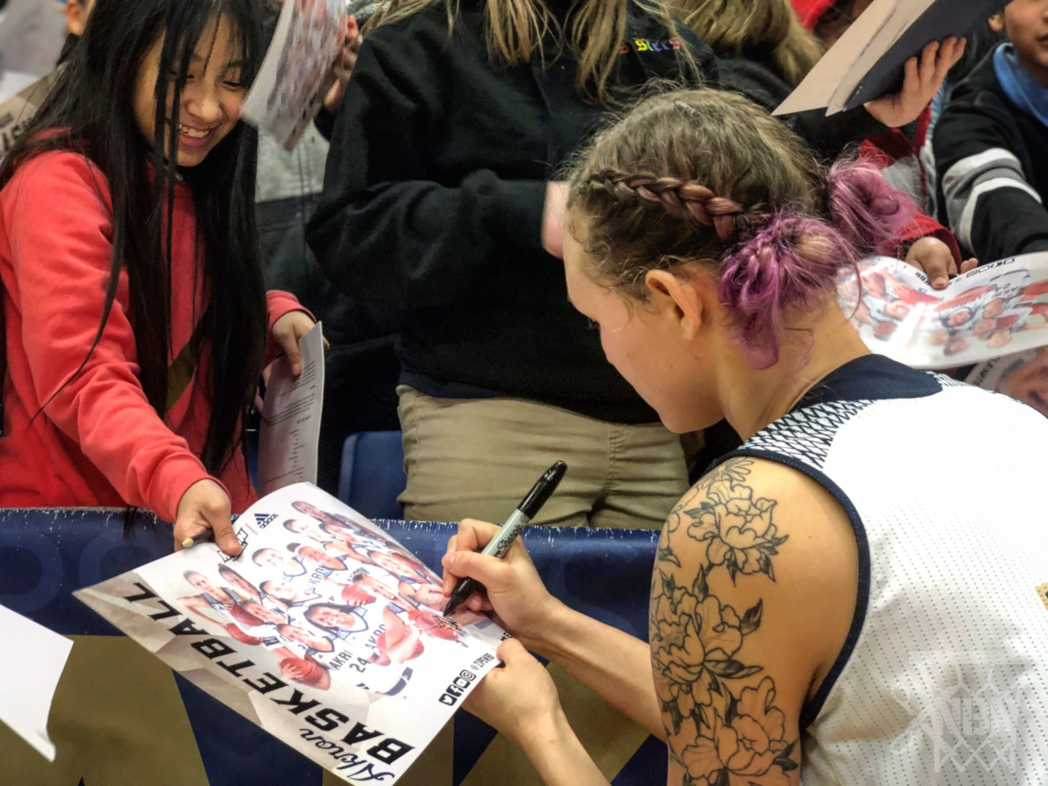 Midday Games are for Kids, Schedule Them Akron Women's Basketball 2019 Duquesne kids game