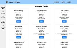 Flow Fantasy Lacrosse platform
