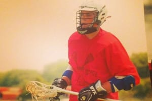 Zack Dorn as a high school lacrosse player