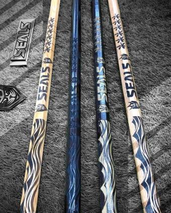 wood lacrosse shafts - stabilized wood - msn lazer