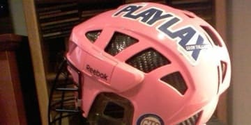 Pink Reebok Box Lacrosse Helmet
